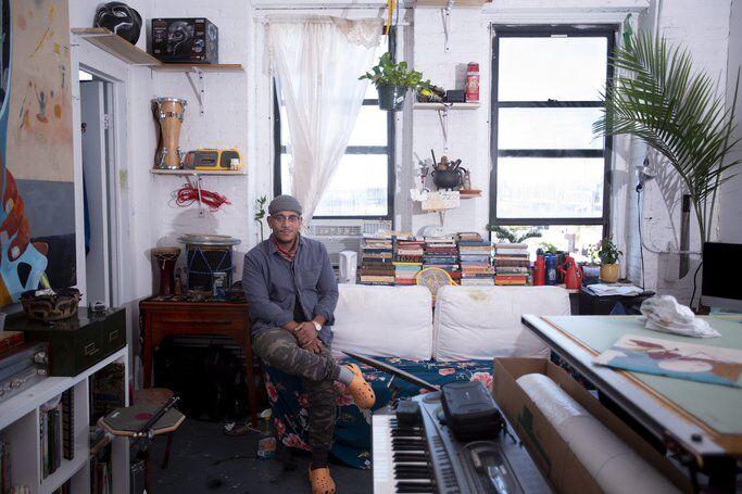 artist Kenny Rivero studio