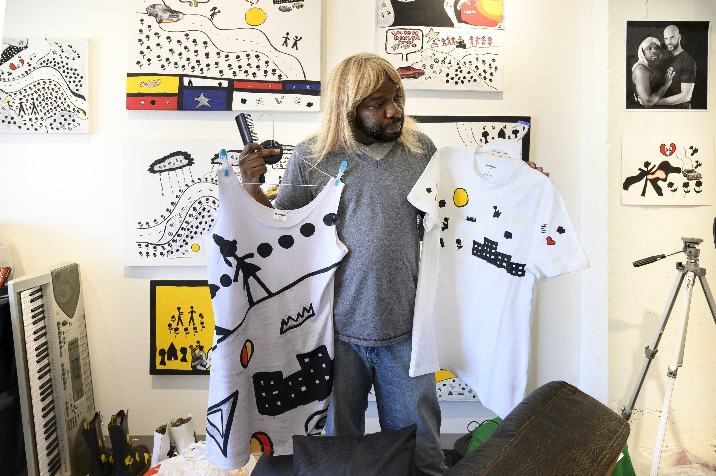 artist Kalup Linzy studio portrait