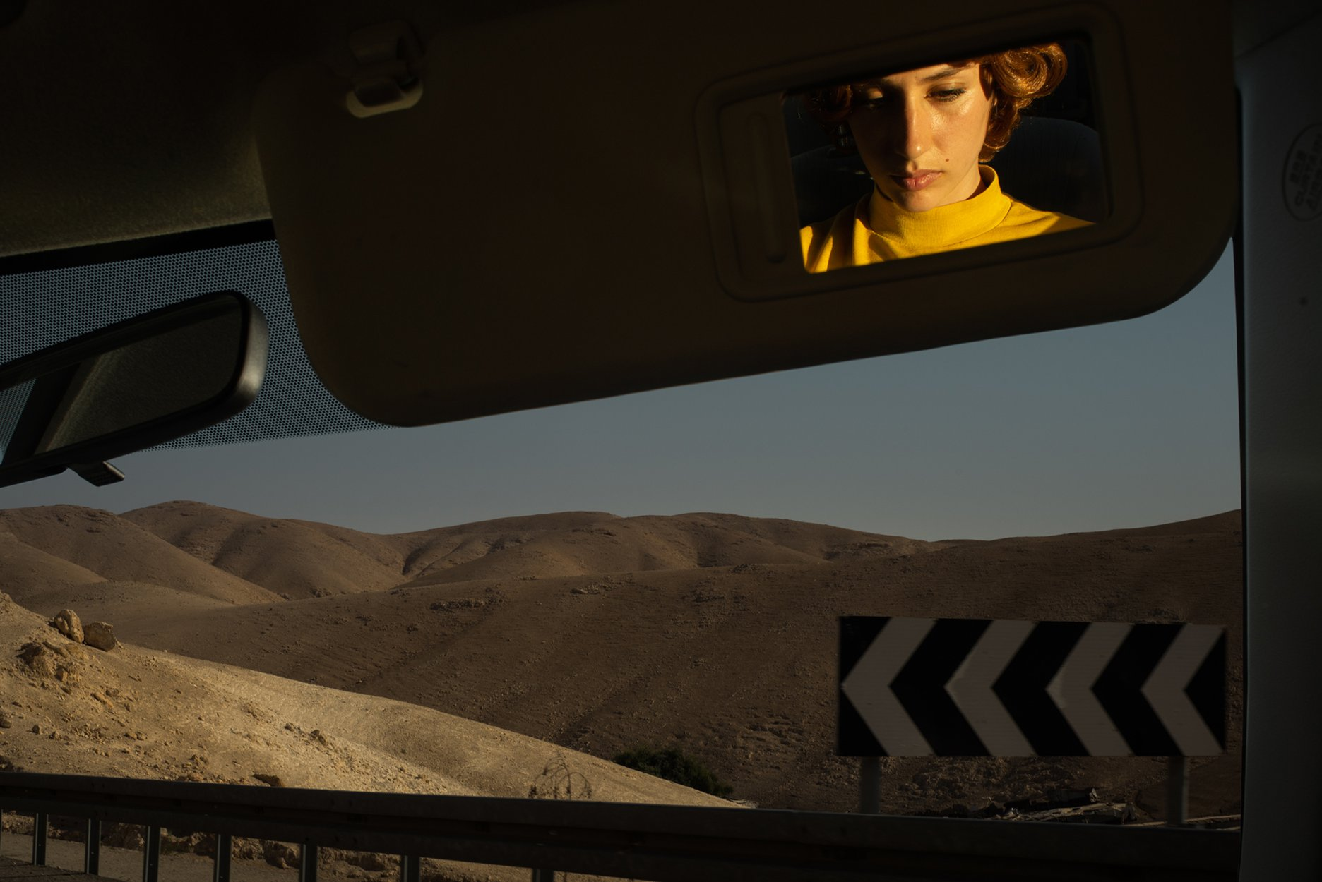 tania franco klein mirror self portrait from the series proceed to the route