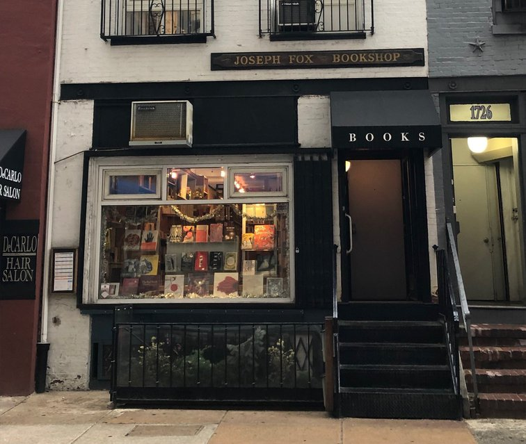 Joseph Fox bookstore storefront