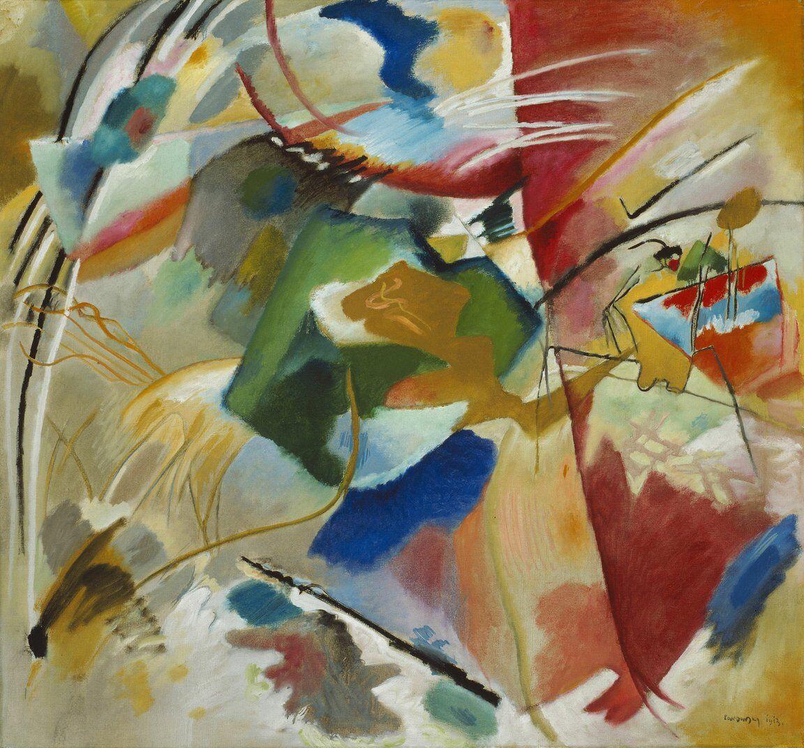 Vasily Kandinsky Painting with Green Center