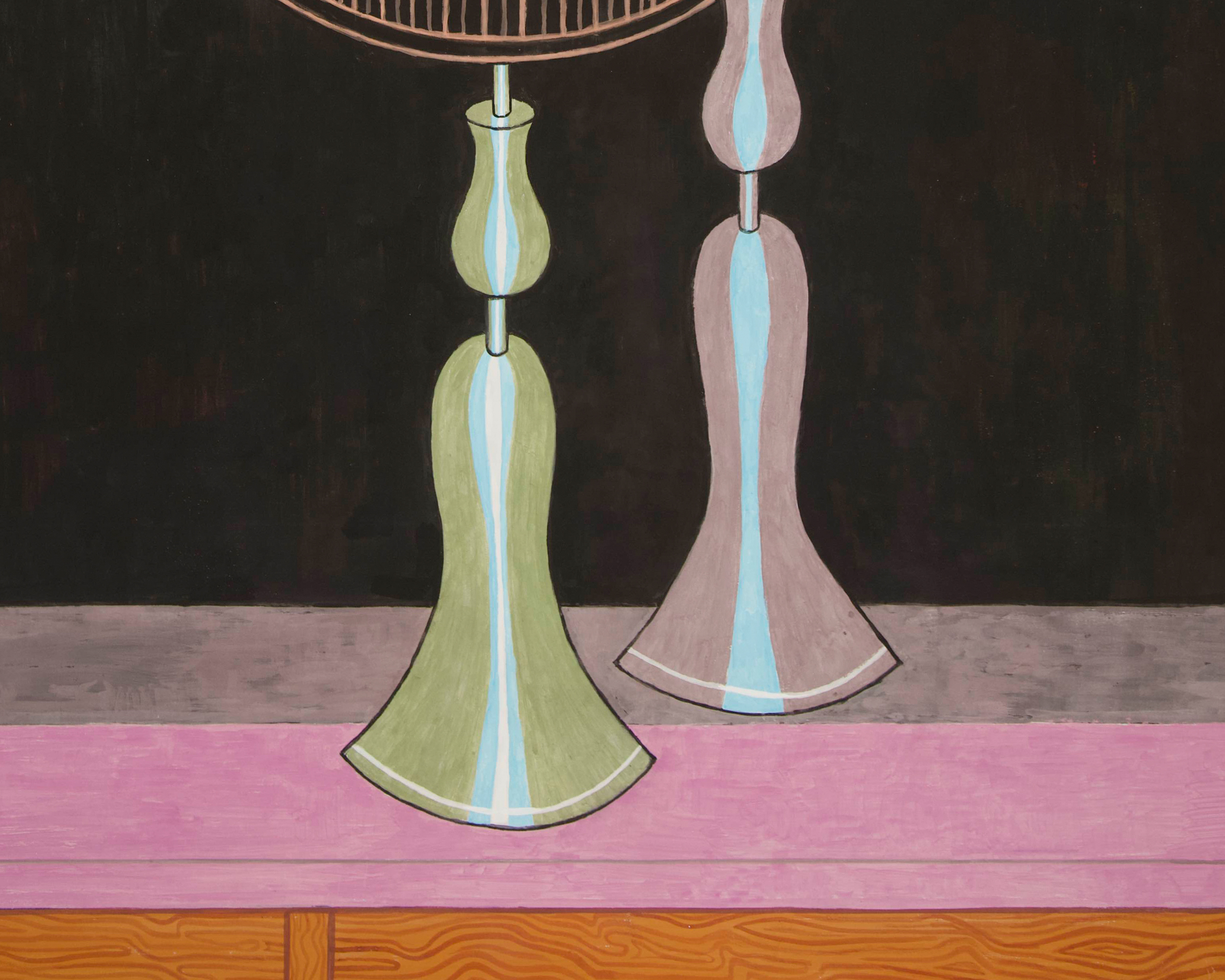 yves tessier lamps and mirror