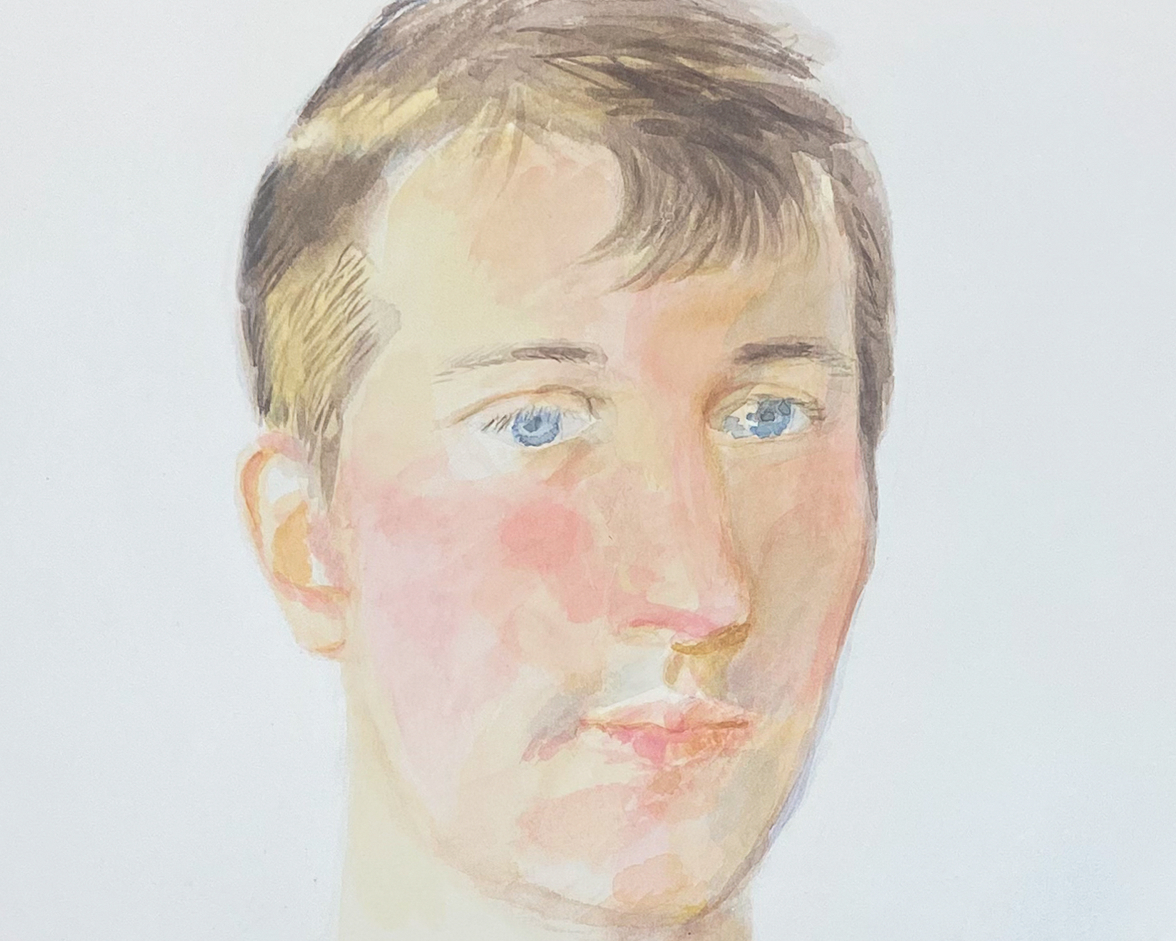 gilbert lewis untitled young man in disco shirt