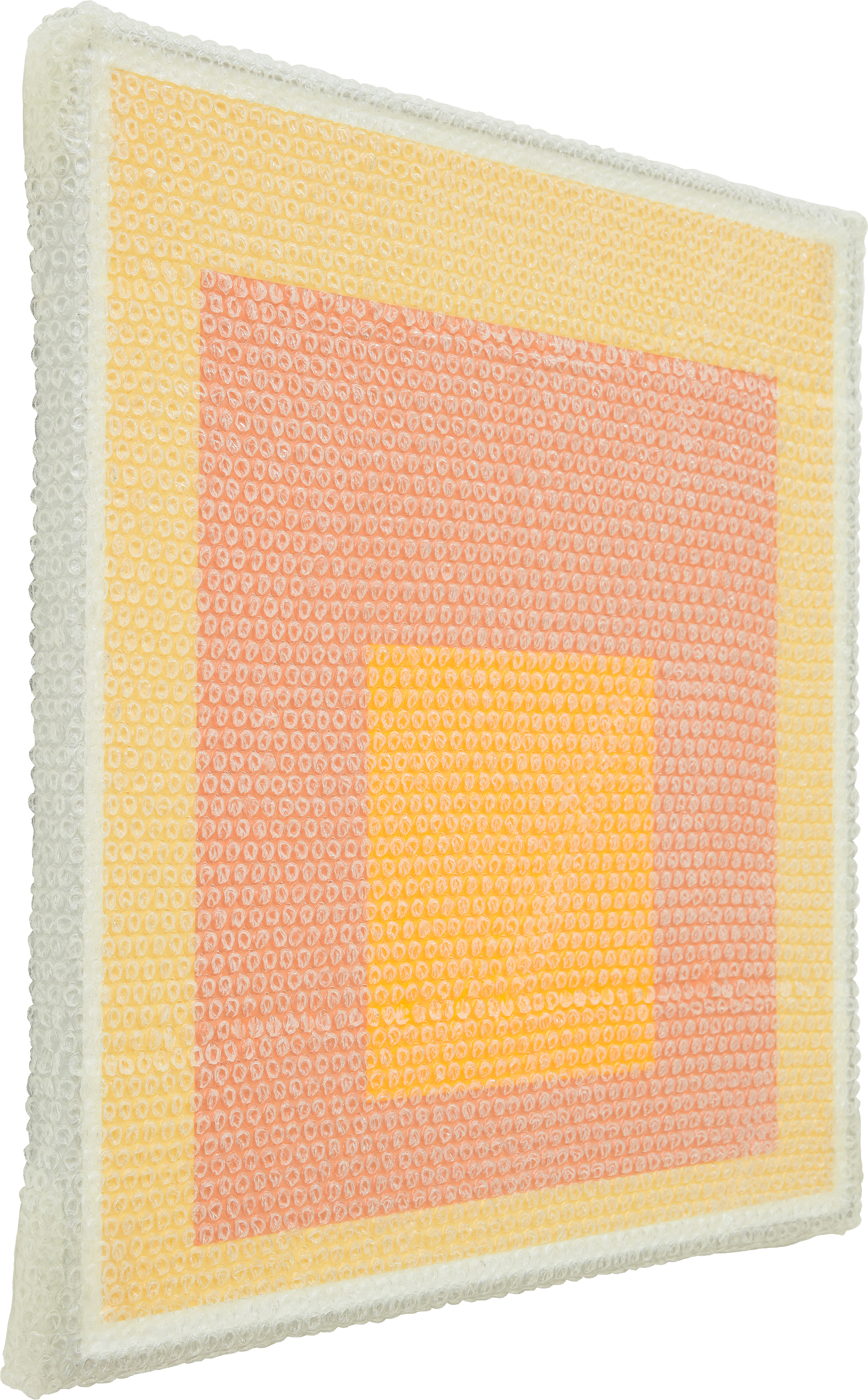tammi campbell homage to the square with bubble wrap and packing tape 9