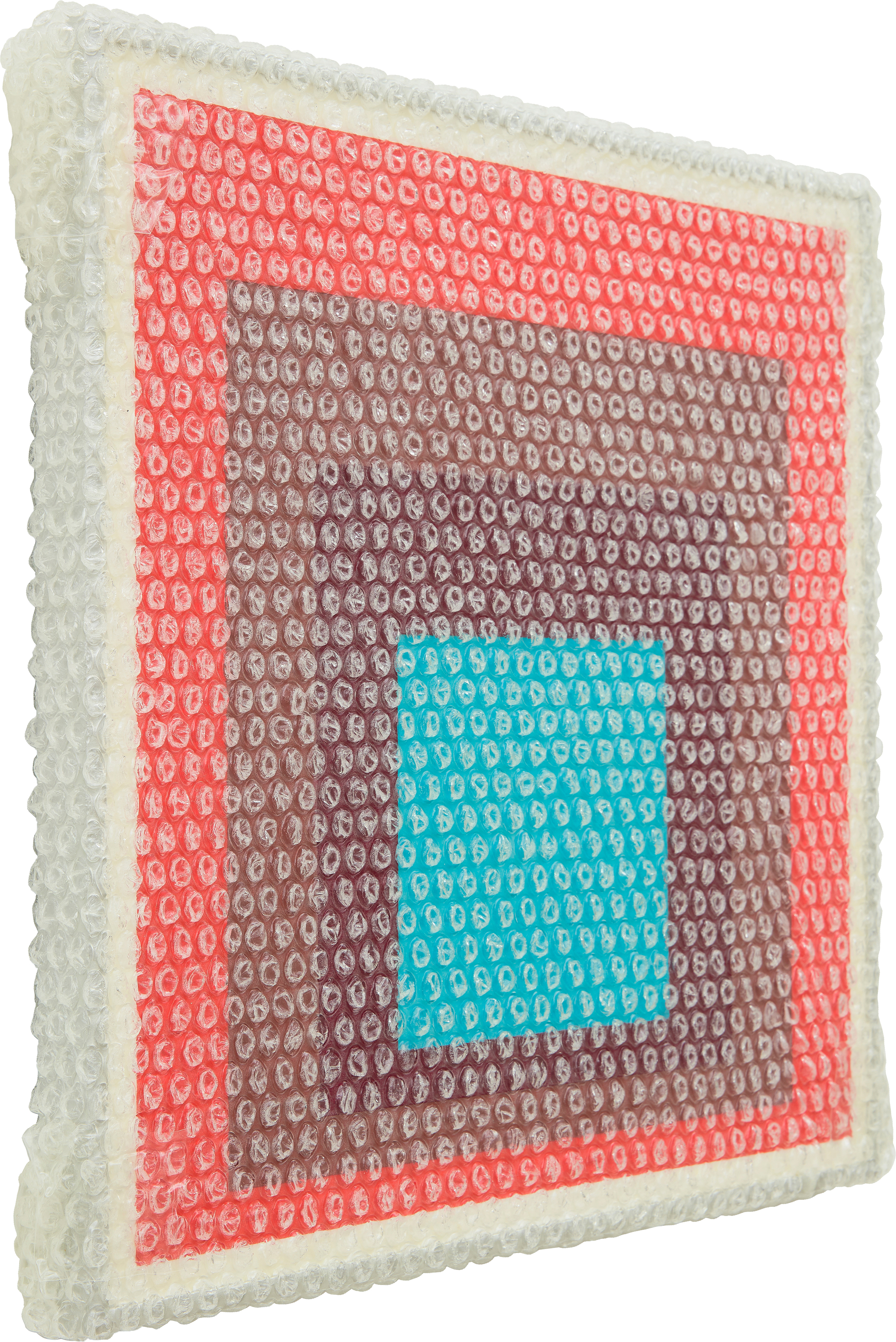 tammi campbell homage to the square with bubble wrap and packing tape 11