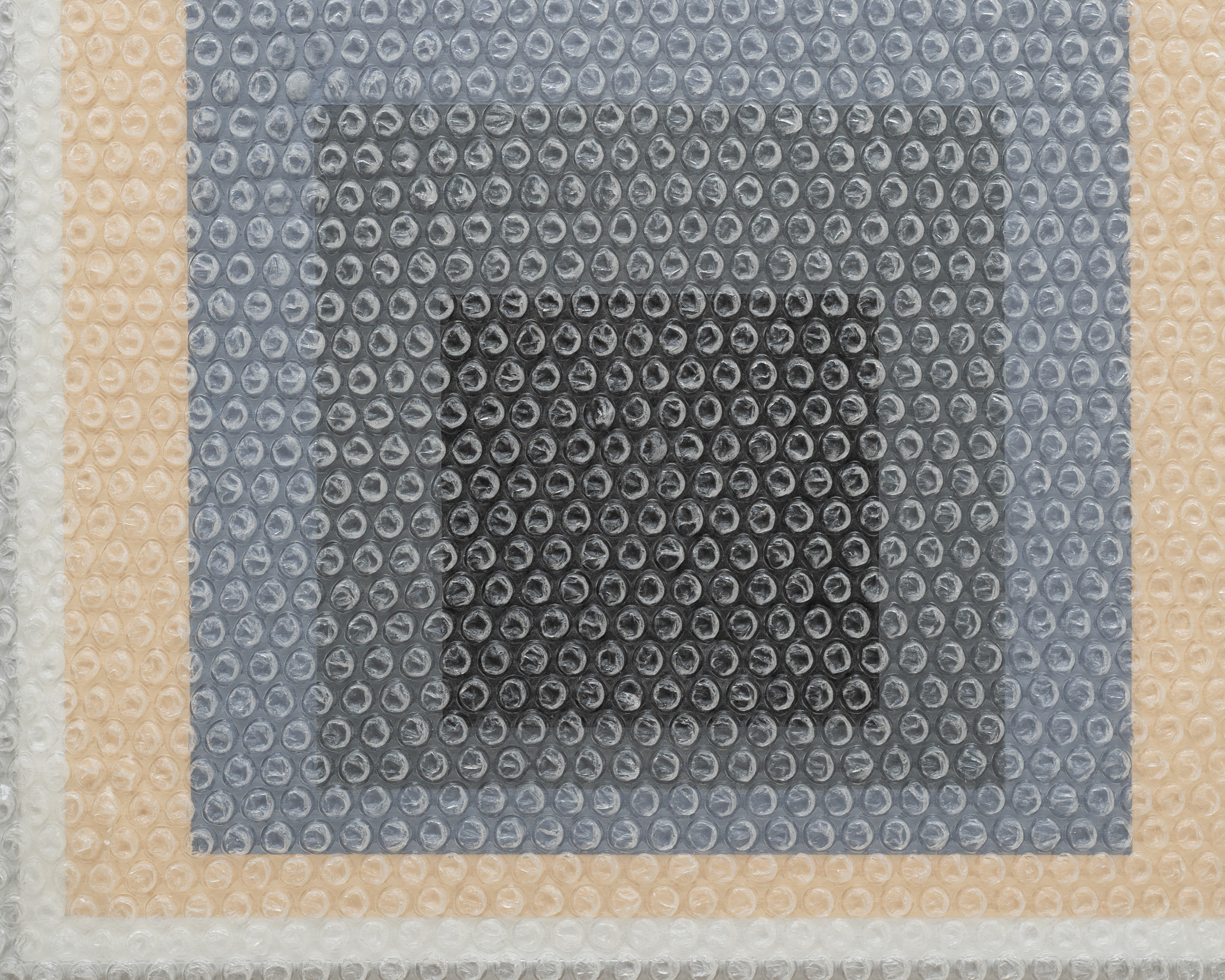tammi campbell homage to the square with bubble wrap and packing tape 10